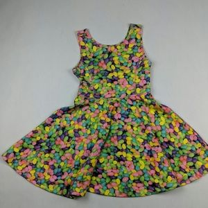 Jelly Bean dress M 7/8 pink/yellow/green/purp/blue